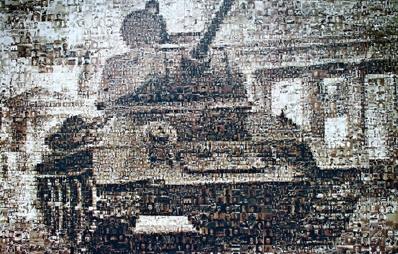 Photo wallpaper victory, silhouette, face, photos, T-34, Soviet medium tank