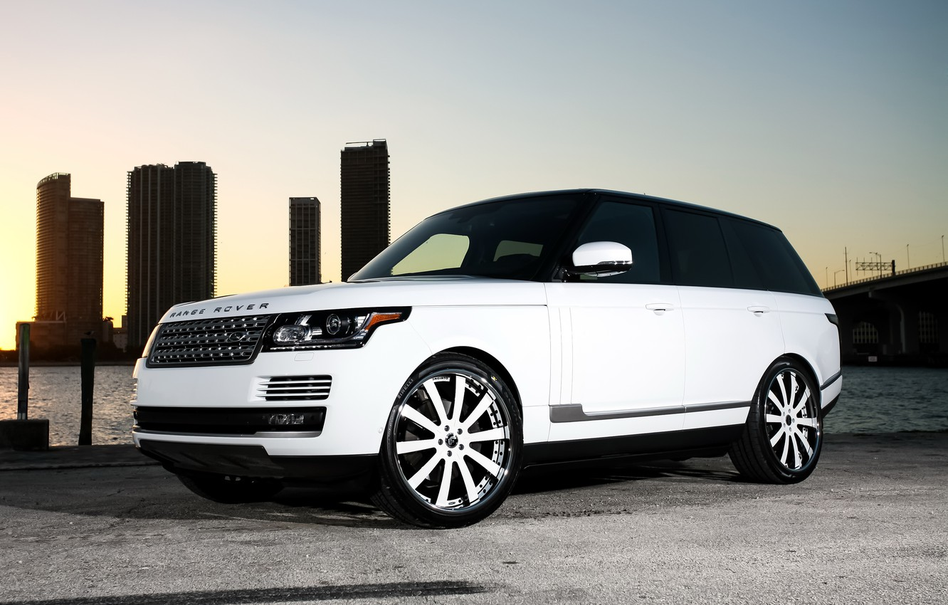 Photo wallpaper wheels, Range Rover, color, Forgiato, lowered, matched