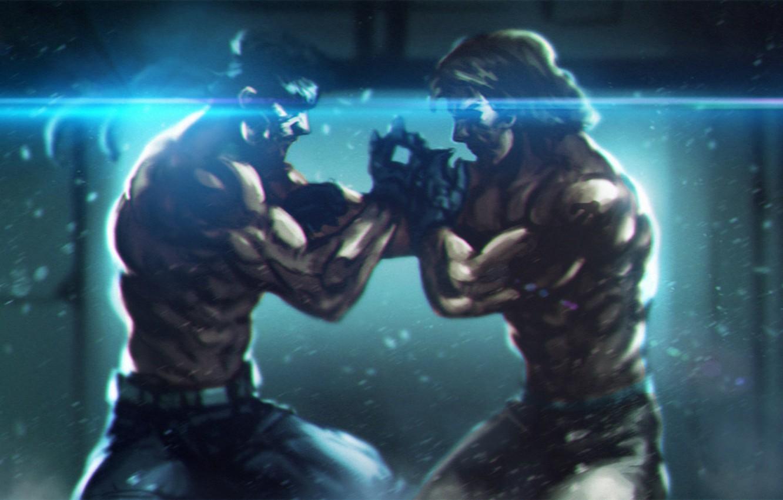 Wallpaper Art Solid Snake Metal Gear Solid Twins Mgs