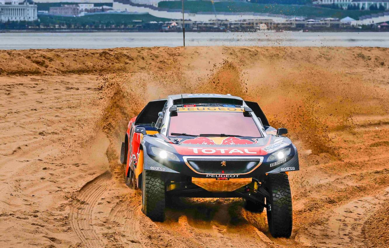 Wallpaper Sand 2008 Sport Speed Race Dirt Peugeot Lights