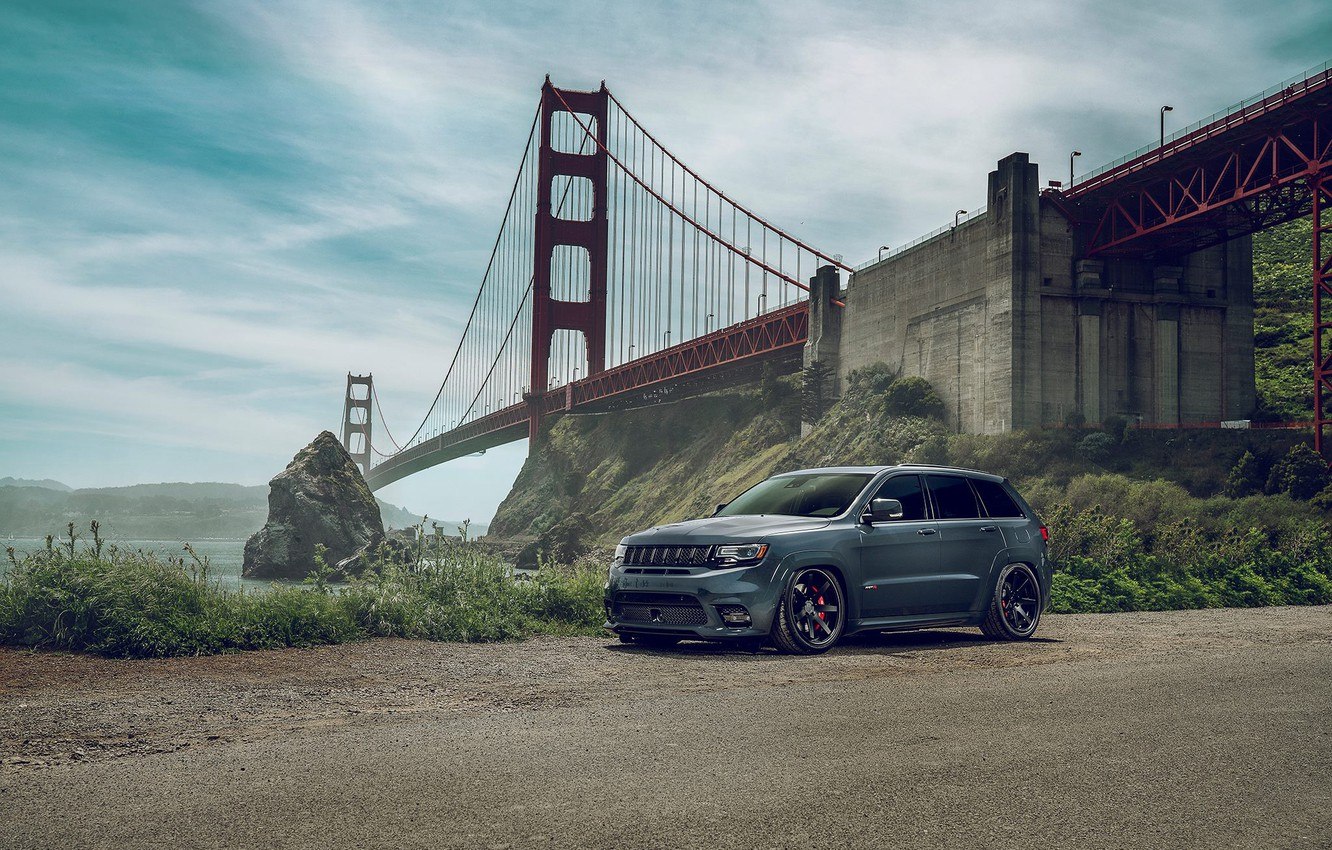 Photo wallpaper SRT8, Car, Front, View, SUV, Off-Road, JEEP