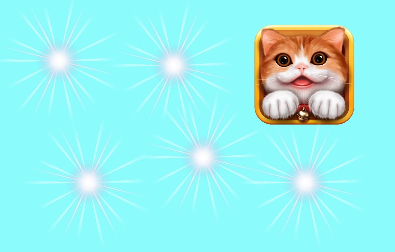 Photo wallpaper lights, art, kitty, children's