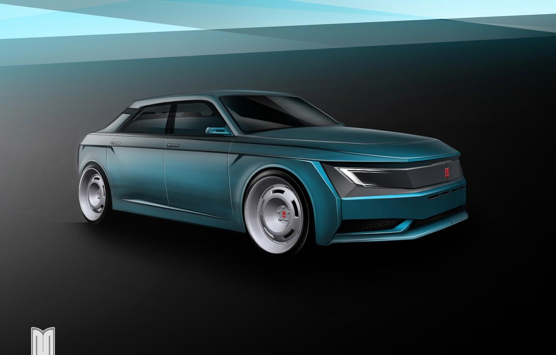 Photo wallpaper Auto, art, the concept, Car, Car, Auto, Drives, Before, Muscovite, Moskvich 2020, Muscovite 2020