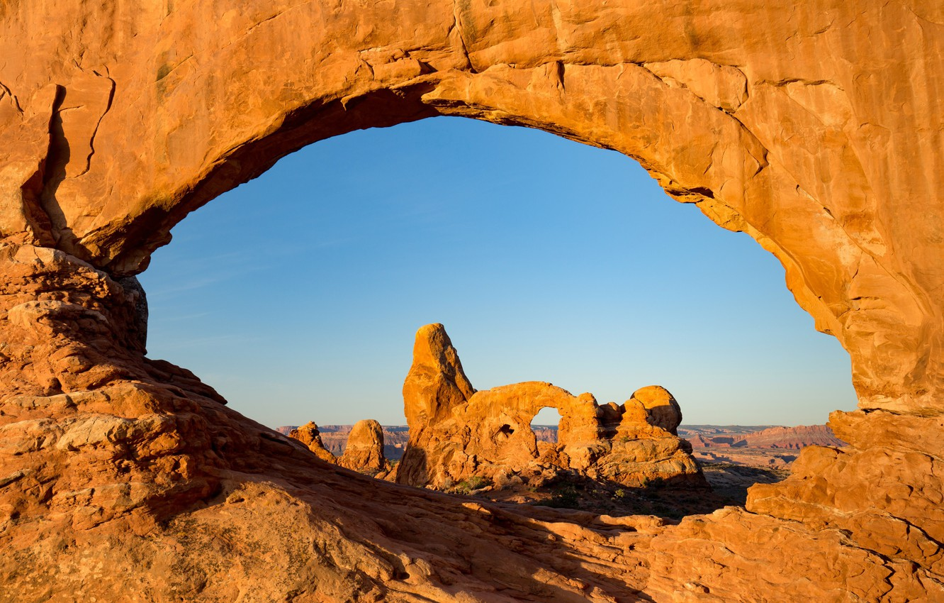 Photo wallpaper rocks, arch, Utah, USA, National Park, Archez