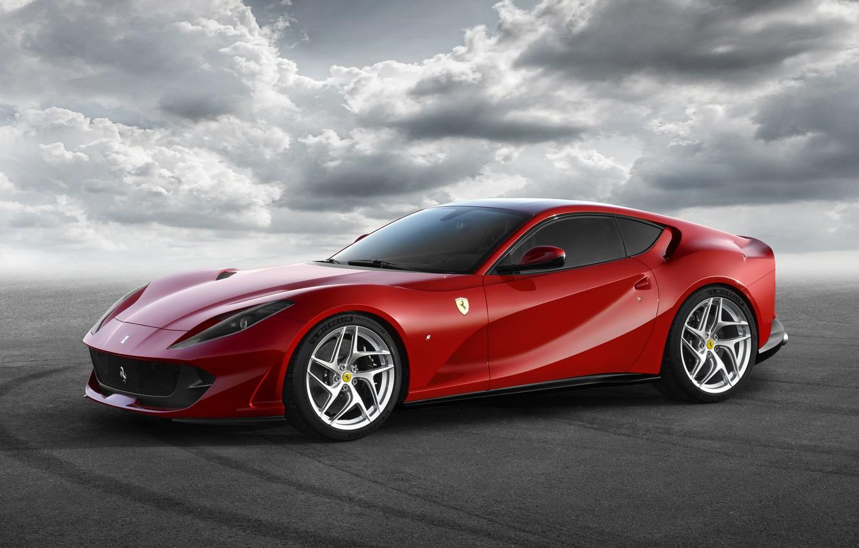 Photo wallpaper background, Ferrari, supercar, Ferrari, Superfast, 812