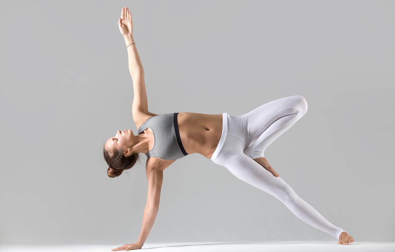 Photo wallpaper girl, sport, white background