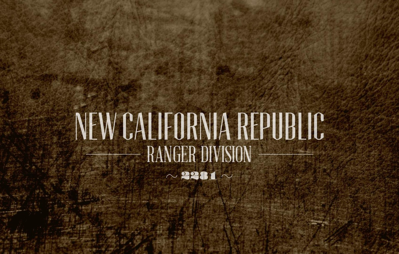 Wallpaper Bethesda Softworks New California Republic Rangers Ncr