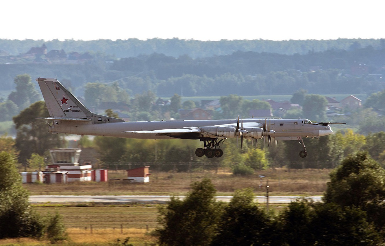 Photo wallpaper Tu-95MS, Bear, bomber bomber, Russian turboprop strategic, The aircraft carrier of cruise missiles X-55