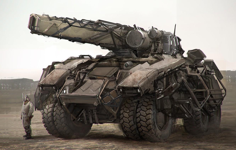 Photo wallpaper weapons, transport, photbash tank demo