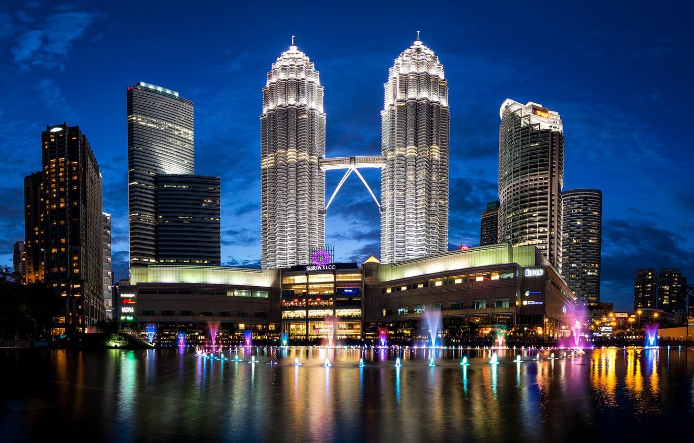 Photo wallpaper skyscrapers, Malaysia, Malaysia, Kuala Lumpur, Petronas Twin Towers, Petronas Towers