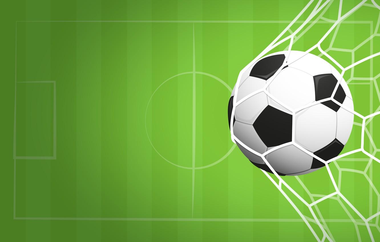 Photo wallpaper background, mesh, football, sport, the game, the ball, vector, gate, green, goal