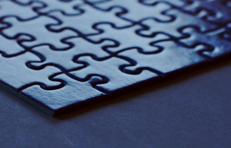 Photo wallpaper macro, puzzle, corner