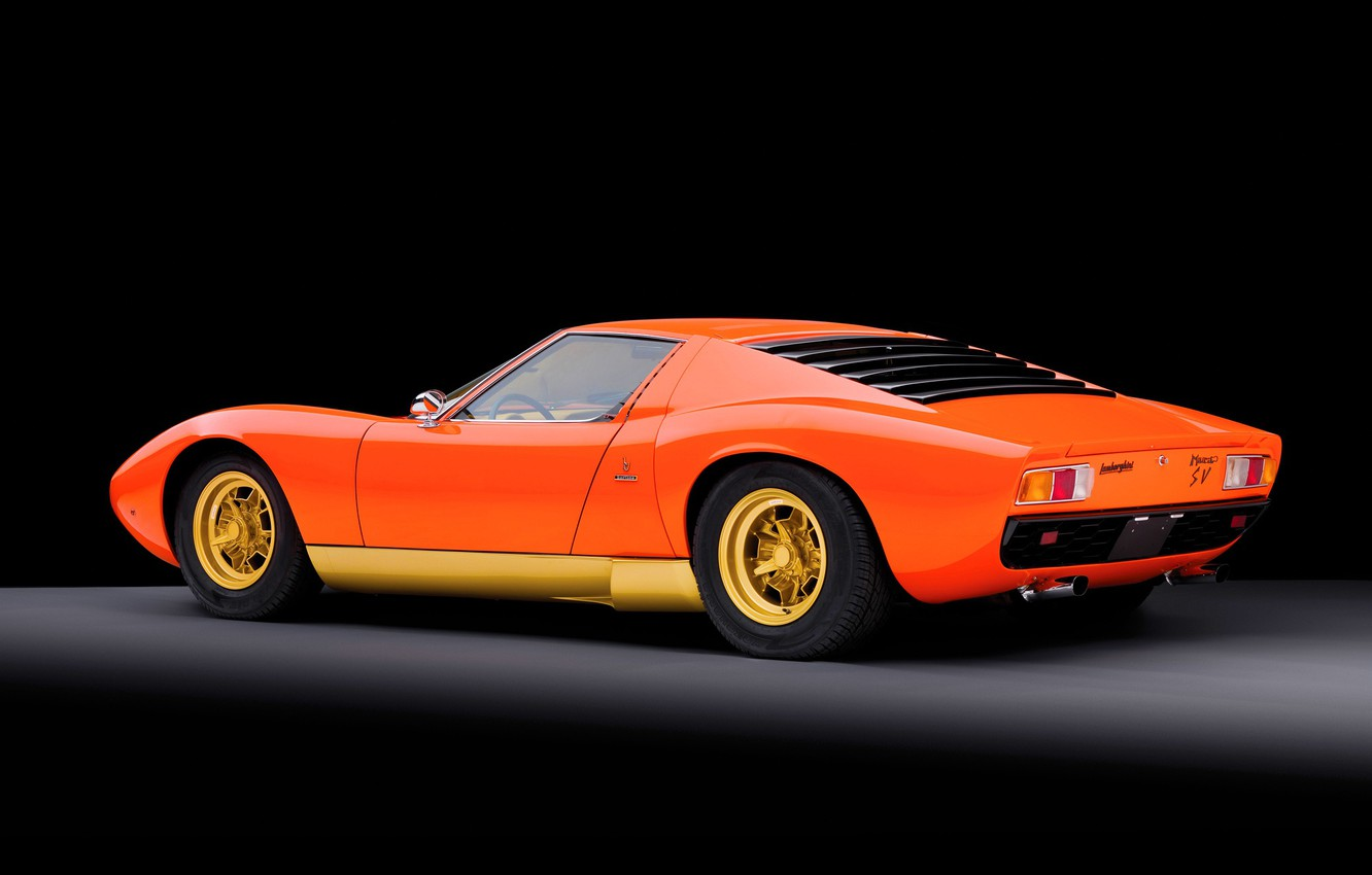 Wallpaper Auto Lamborghini Machine Orange 1971 Orange Car