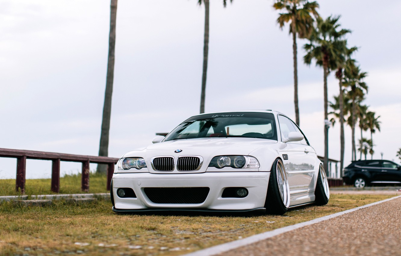 Photo wallpaper Auto, White, BMW, Machine, BMW, Car, E46, BMW M3, The front, German, BMW E46, BMW …