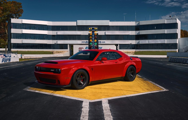 Photo wallpaper Dodge, Challenger, SRT, Demon, 2017