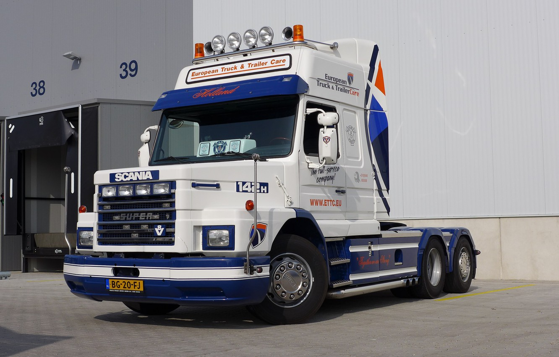 Photo wallpaper Scania, V-8, T-142H