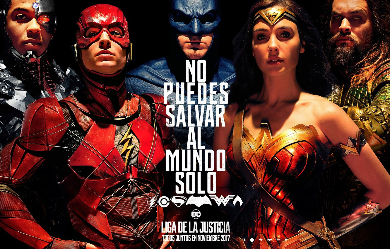 Wallpaper Wonder Woman Batman Movie Cyborg Flash