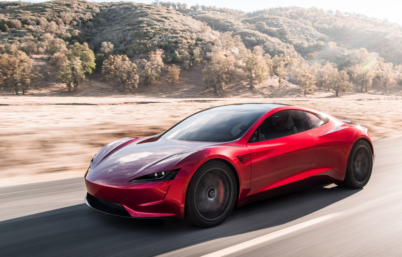 Photo wallpaper Roadster, speed, Tesla, 2020