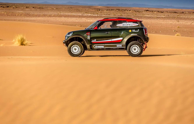 Photo wallpaper Sand, Mini, Sport, Desert, Rally, Dakar, Dakar, SUV, Rally, X-Raid Team, MINI Cooper, X-Raid, X …