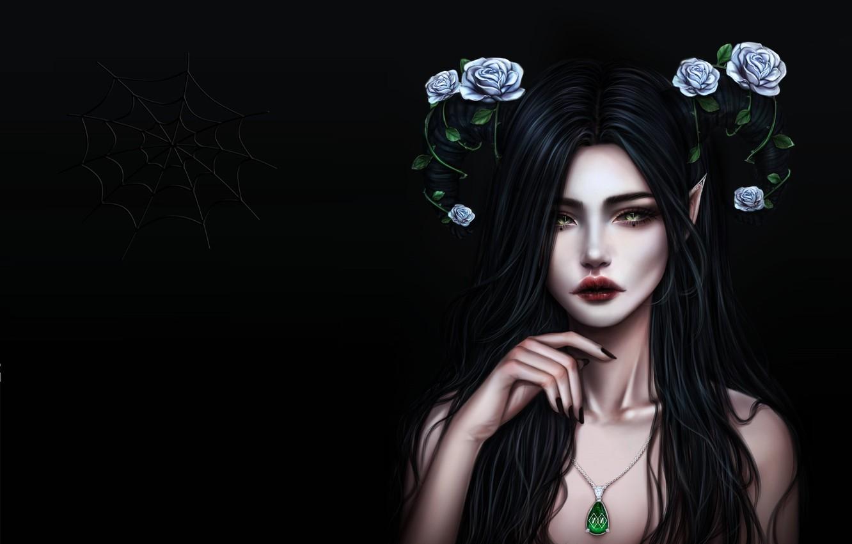Photo wallpaper girl, holiday, fantasy, art, Halloween, No Name