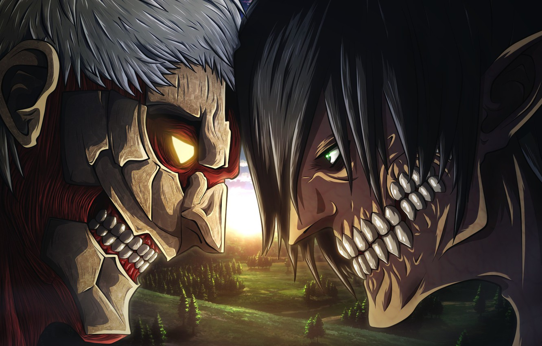 Wallpaper Big Anime Fight Giant Manga Attack On Titan Kyojin Japonese Shingeki No Kyoji Images For Desktop Section Syonen Download