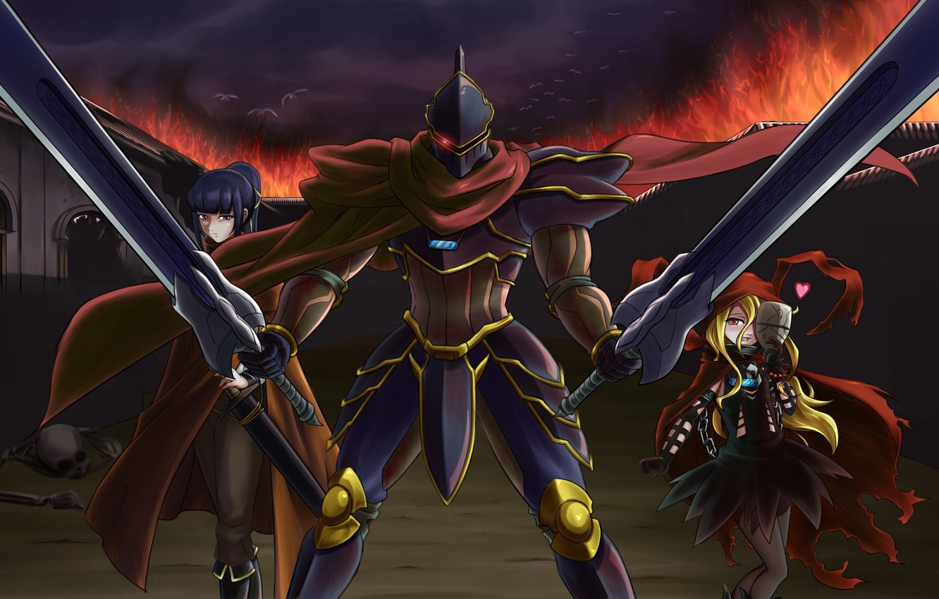 Photo wallpaper Overlord, anime, asian, manga, japanese, oriental, asiatic, powerful, strong, sugoi