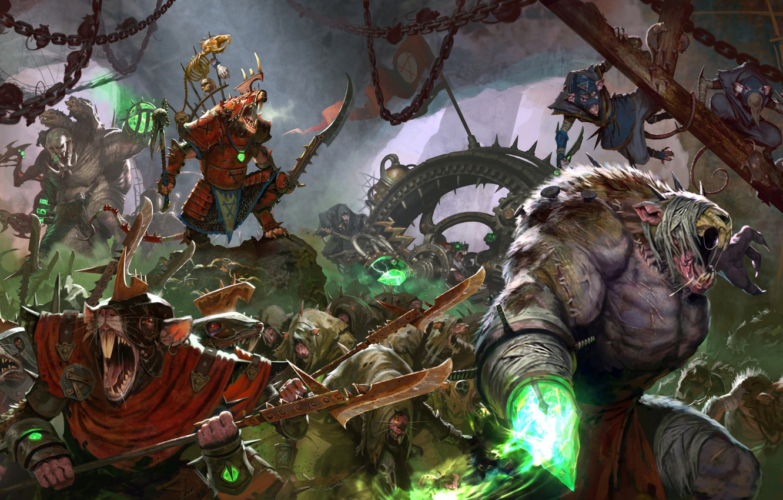 Photo wallpaper battle Art, Total warhammer 2 was, Skaven