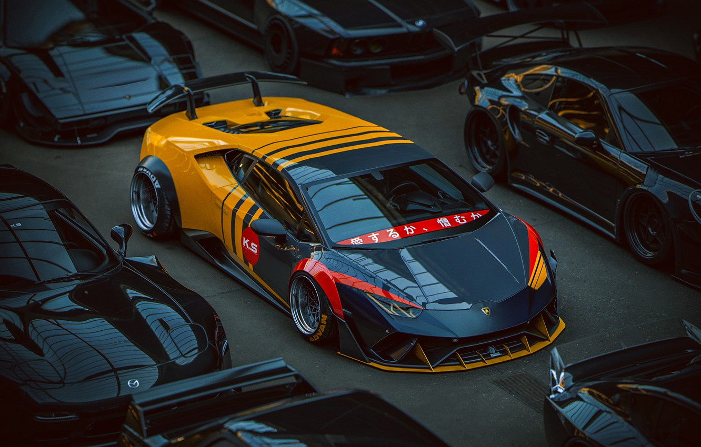 Photo wallpaper Lamborghini, virtual tuning, Huracan, Khyzyl Saleem