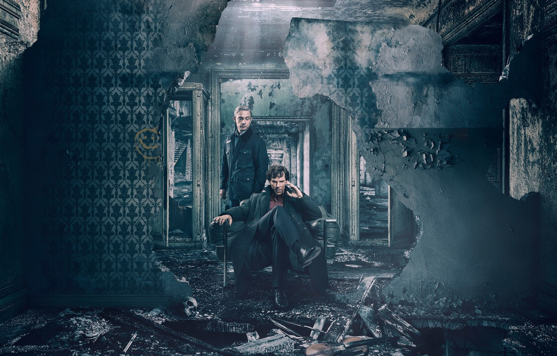Photo wallpaper John, Martin Freeman, Benedict Cumberbatch, Sherlock, John Watson, Sherlock Holmes, TV series, Dr. John Watson, …