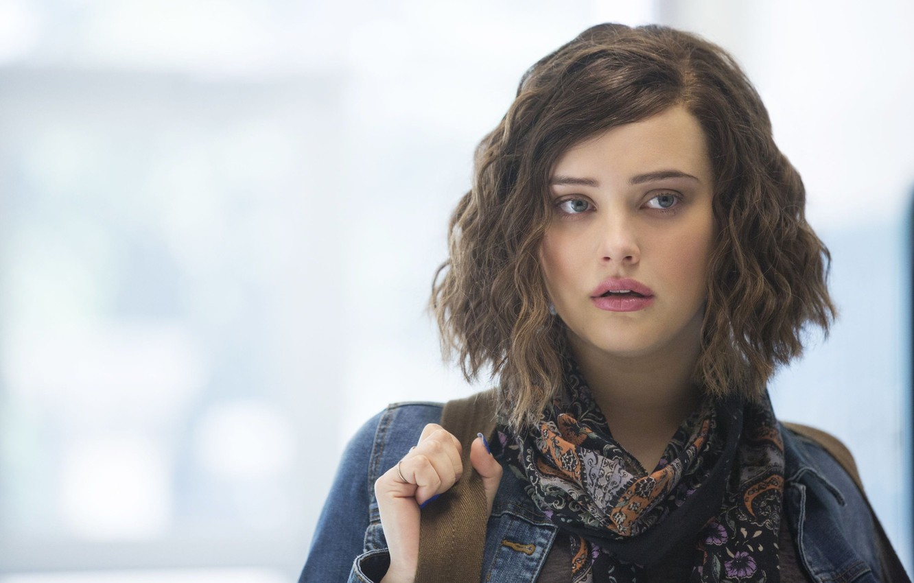 Photo wallpaper girl, Netflix, tv seies, Katherine Langford, 13 Reasons Why