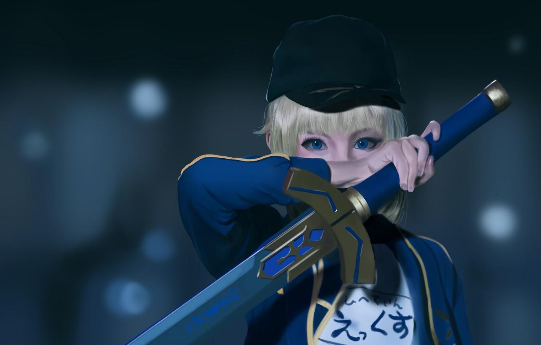Photo wallpaper look, girl, blue eyes, Fate / Grand Order