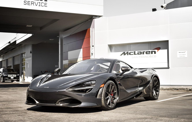 Photo wallpaper McLaren, Black, Zenith, 720S