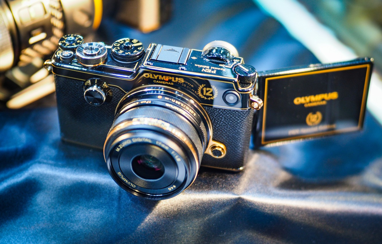 Photo wallpaper background, the camera, lens, Olympus