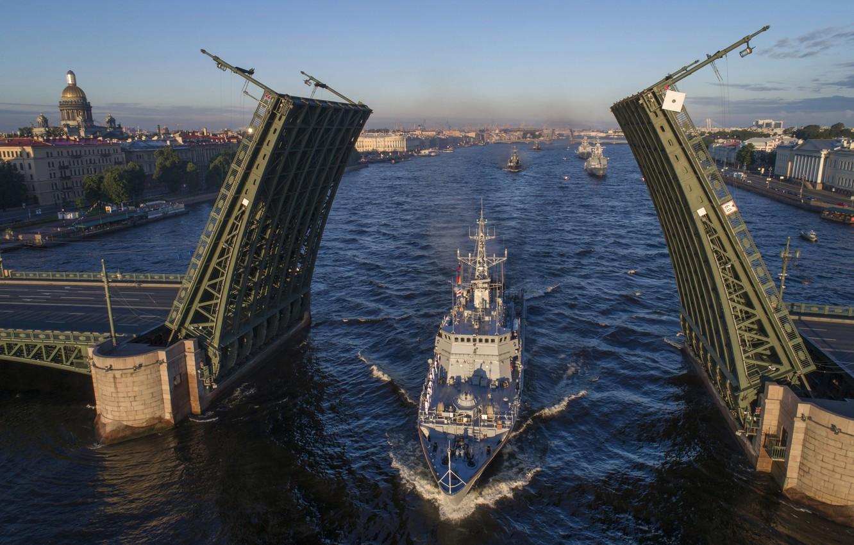 Photo wallpaper Navy, Neva, minesweeper, Alexander Obukhov