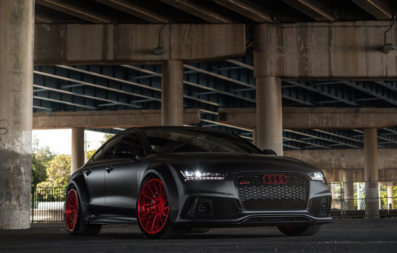 Photo wallpaper Audi, wheels, Sportback, RS7, avantgarde