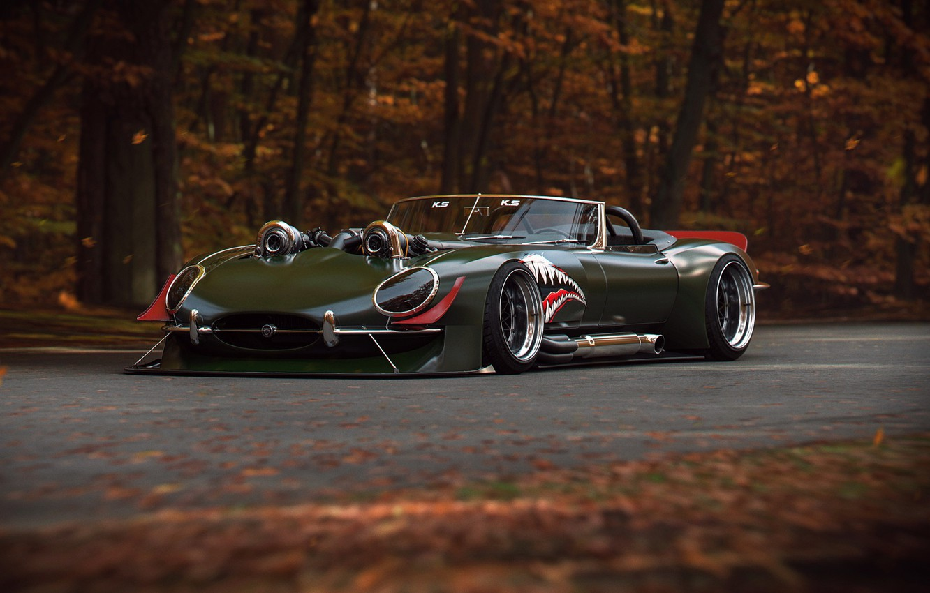 Photo wallpaper Concept, Jaguar, E-Type, Power, Turbo, by Khyzyl Saleem