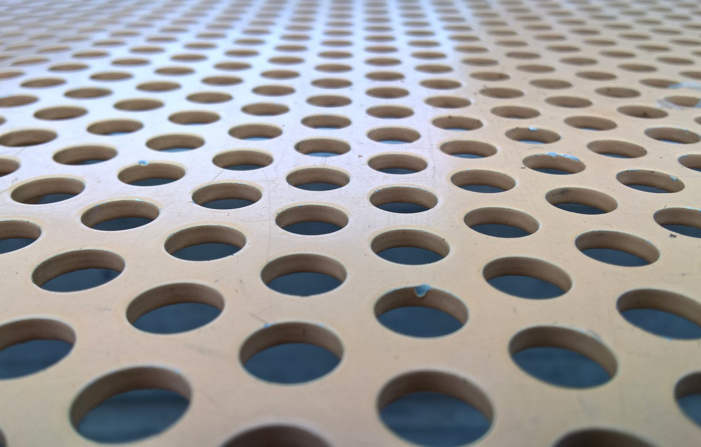 Photo wallpaper wallpaper, metal, texture, brown, background, seat, holes