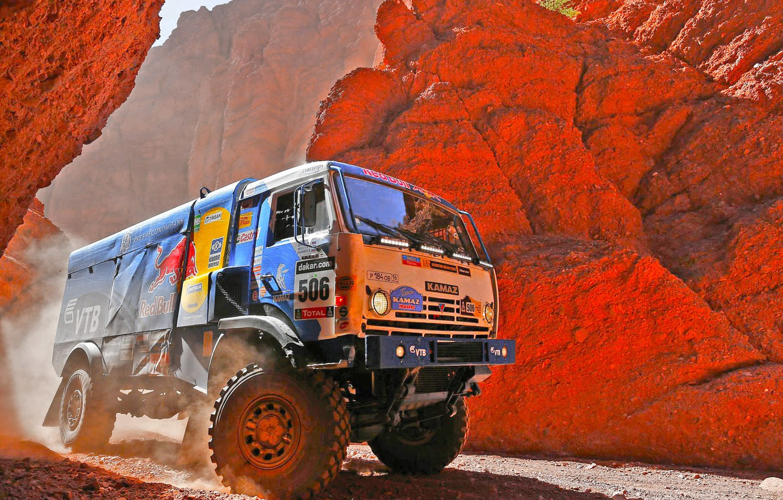 Photo wallpaper Auto, Rocks, Sport, Master, Kamaz, Rally, Dakar, Dakar, KAMAZ, 506