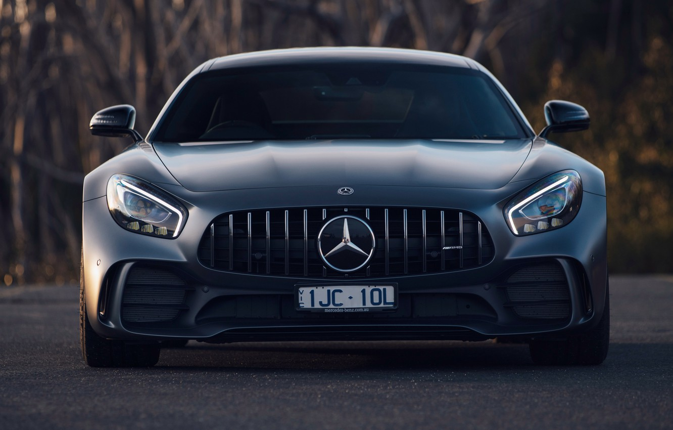 Photo wallpaper Mercedes-Benz, front view, AMG, 2018, GT R