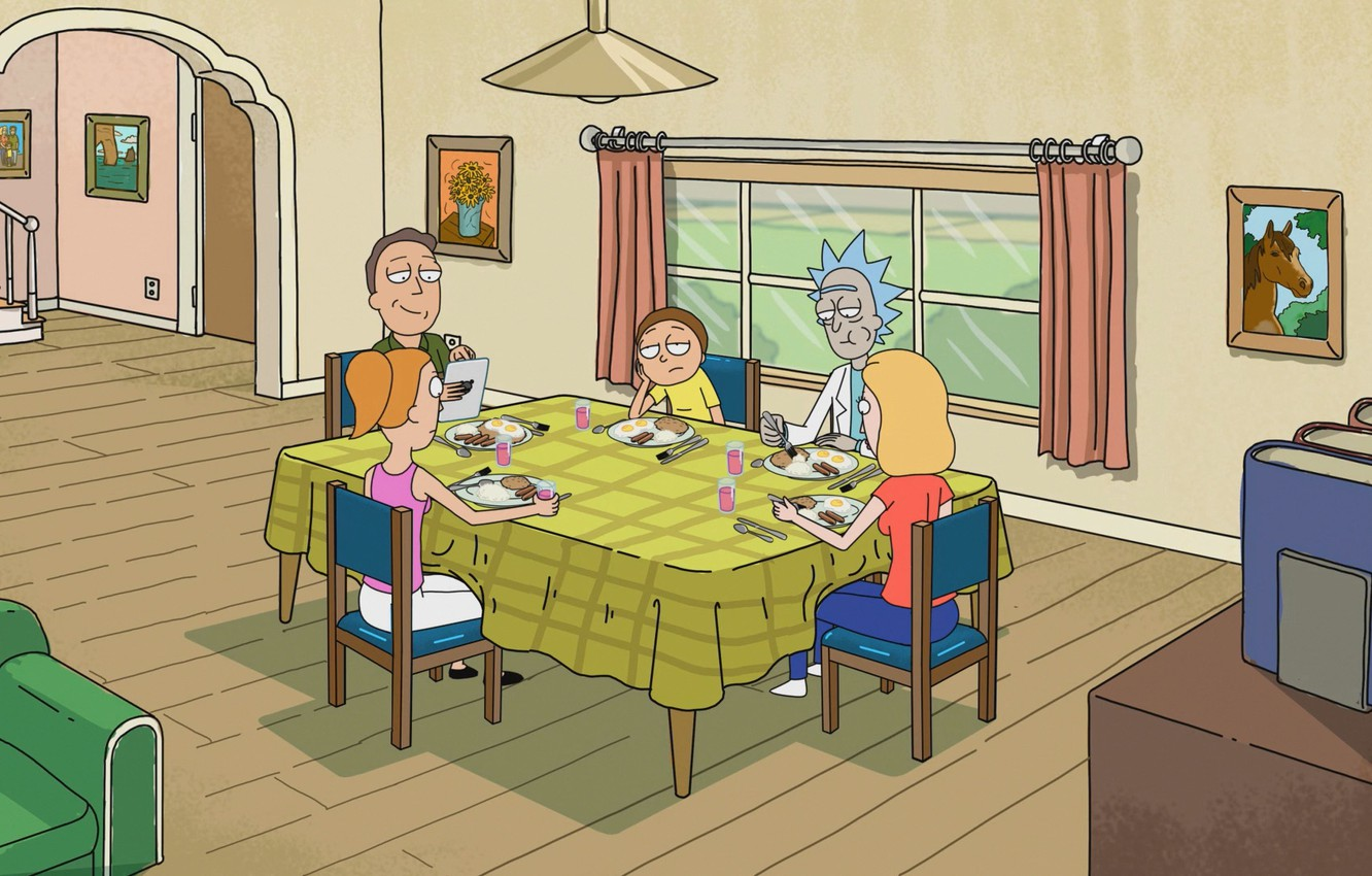 Photo wallpaper cartoon, the series, the cartoon series, Rick and Morty, Rick and Morty