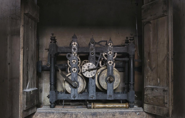 Photo wallpaper time, watch, mechanism