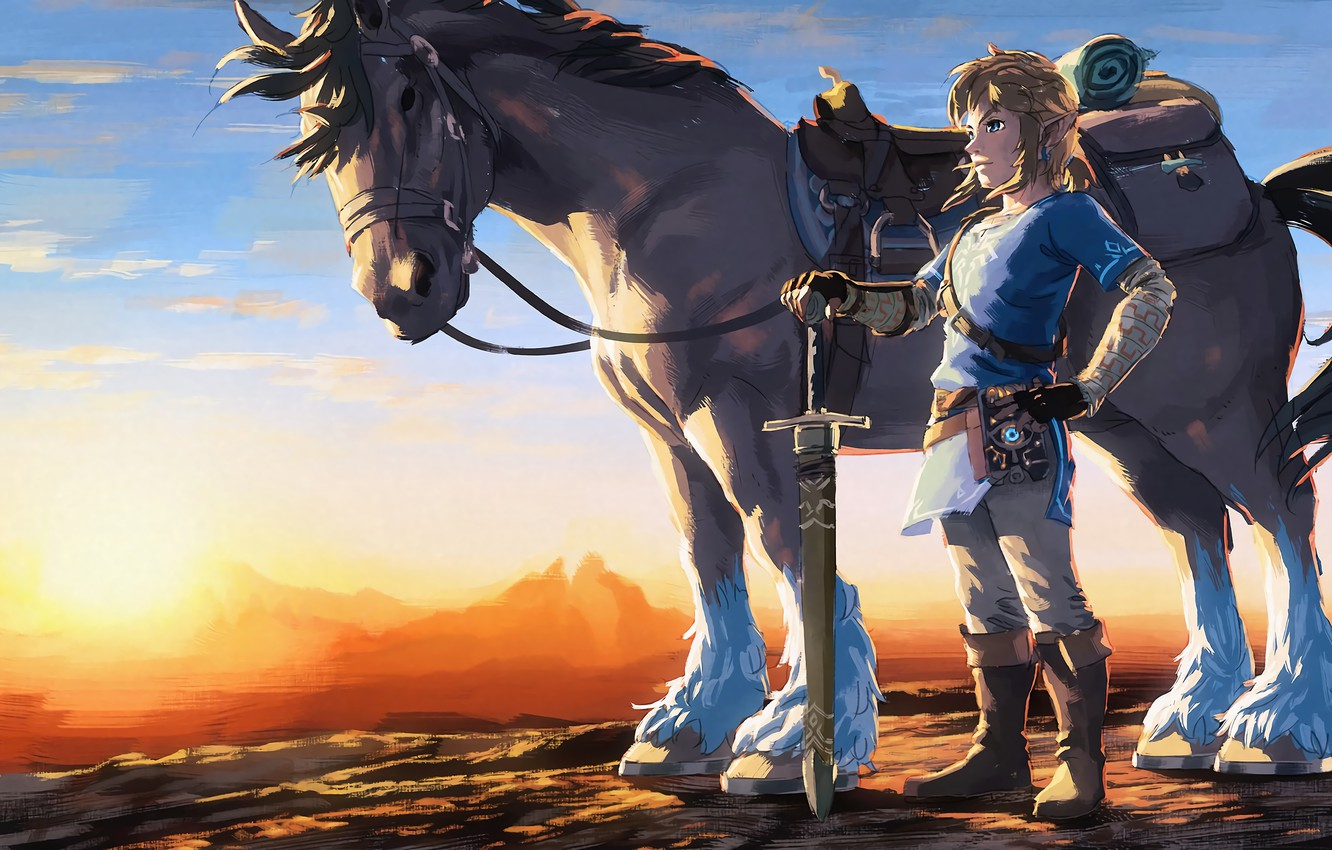 Wallpaper Game Link Nintendo The Legend Of Zelda Breath Of The