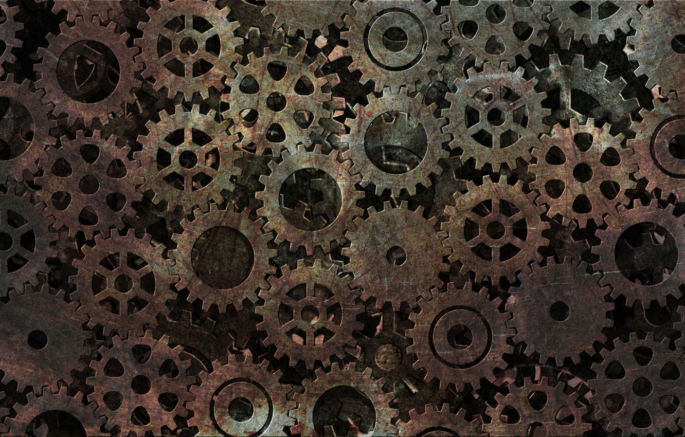 Photo wallpaper time, background, watch, industry, mechanism, texture, rust, gear, abstract, subha