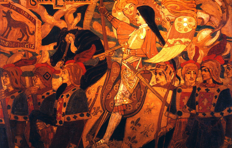 Photo wallpaper 1896, John, Scotch guard, Duncan, Joan of Arc and her