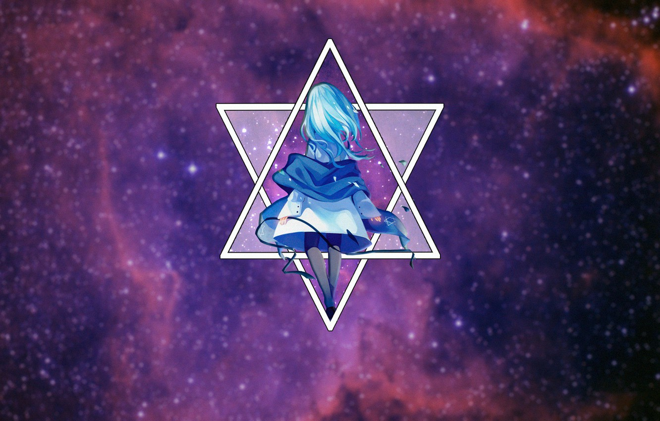 Wallpaper Space Anime Space Anime The Star Of David Madskilz Images For Desktop Section Prochee Download