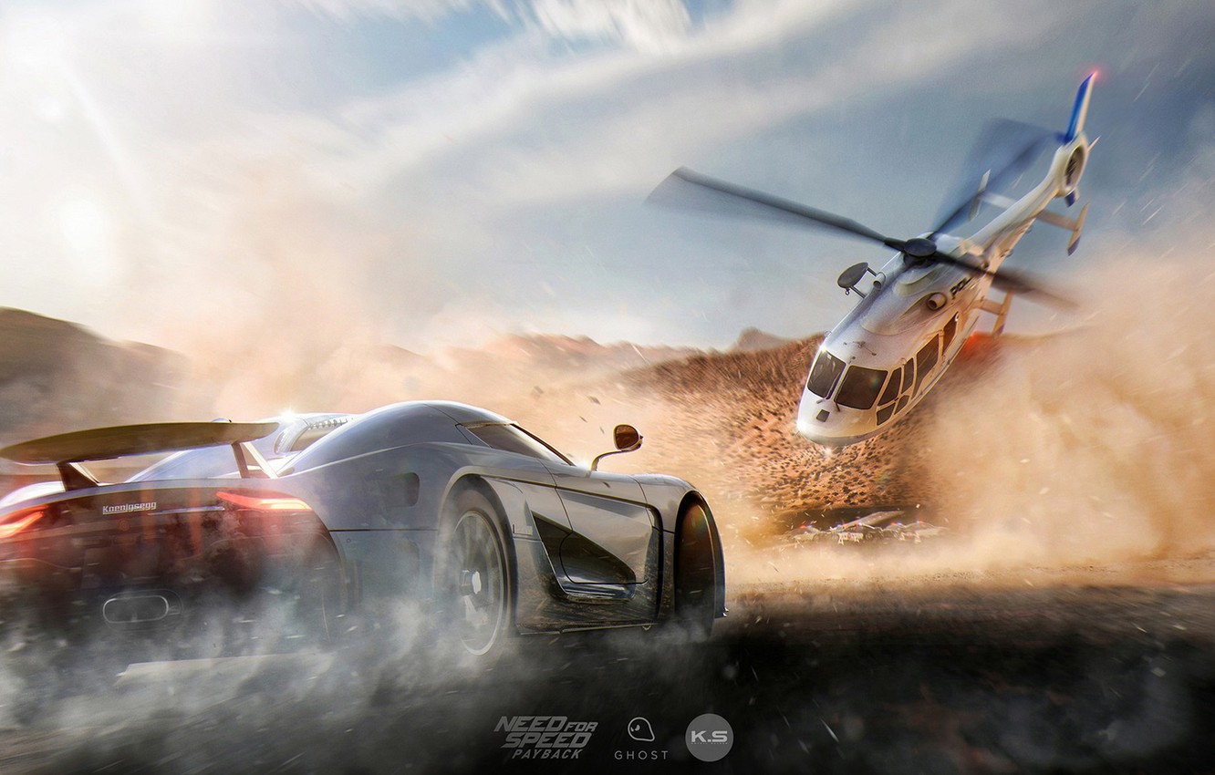 Wallpaper Road Machine Dust Helicopter Need For Speed Payback