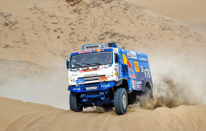 Photo wallpaper Sand, Auto, Sport, Machine, Truck, Race, Master, Russia, Kamaz, Rally, Dakar, KAMAZ-master, Dakar, Rally, KAMAZ, …