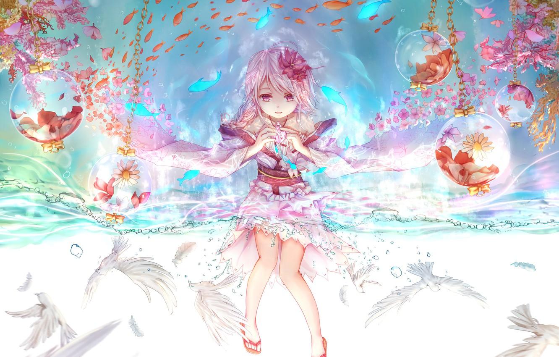 Photo wallpaper decoration, anime, art, girl