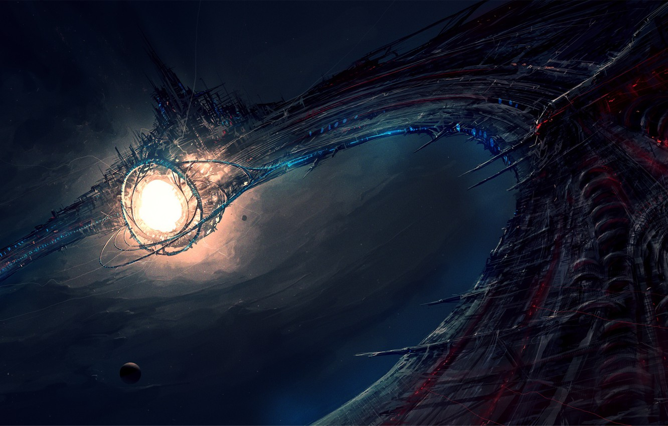 Photo wallpaper Stargate, ChrisCold, Sinister space station