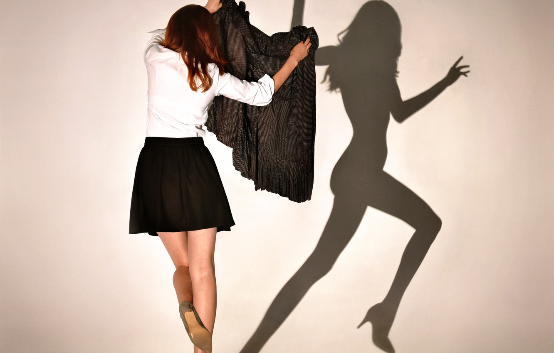Photo wallpaper girl, the game, shadow, Shadowplay